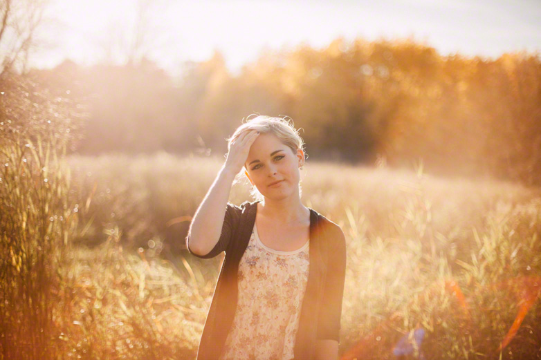 Senior with sun flare