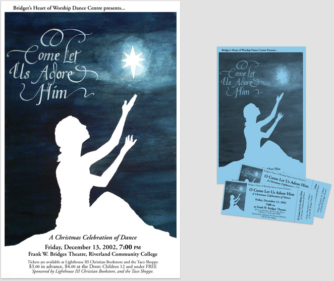 Slideshow: Bridget's Hart of Worship Dance Poster & colateral