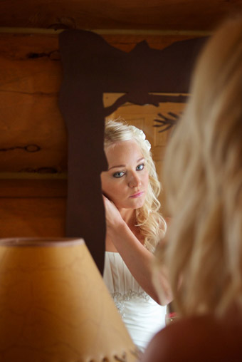 Bride preparing for wedding day