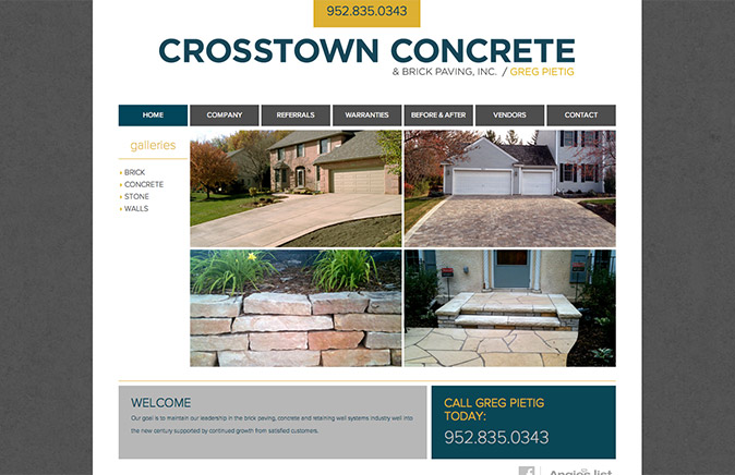 Crosstown Concrete Homepage