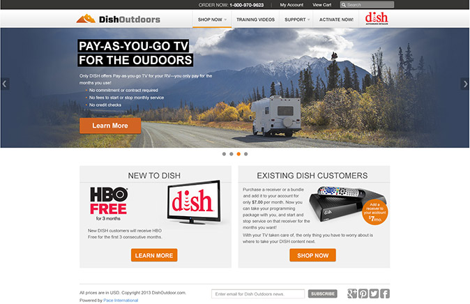 DishOutdoors Mockup - homepage Pay-as-you-go TV slide