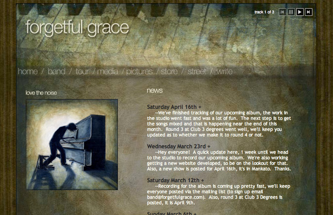 Picture of Forgetful Grace's homepage